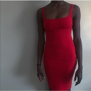 Red fitted American apparel pencil dress